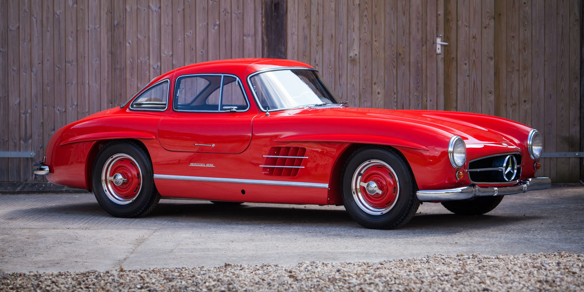 The London Motor Show 1955 Mercedes-Benz 300 SL Coupé 'Gullwing'