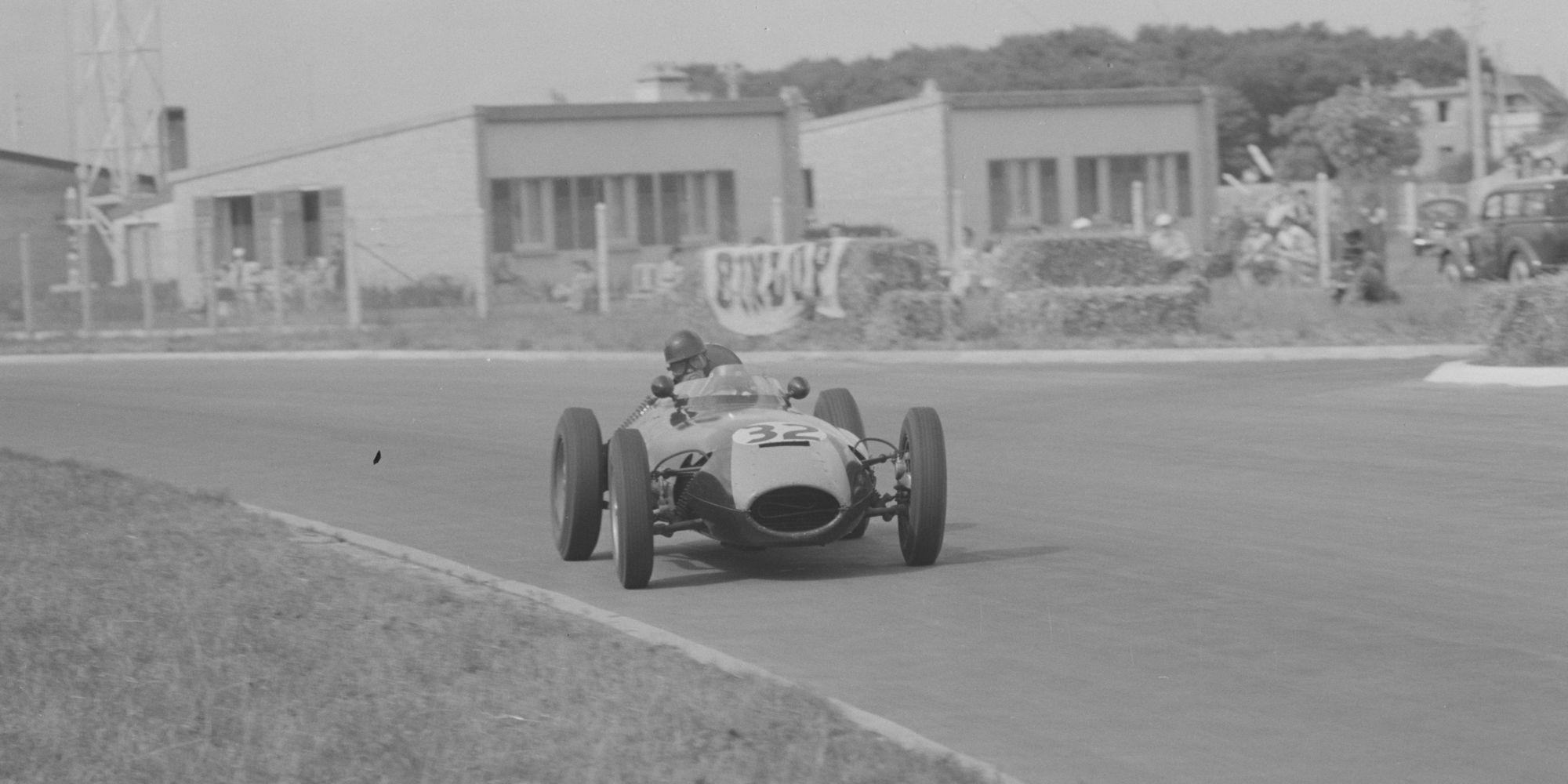 The Ex – Jim Clark, Graham Hill, Bruce Halford 1958 Lotus 16