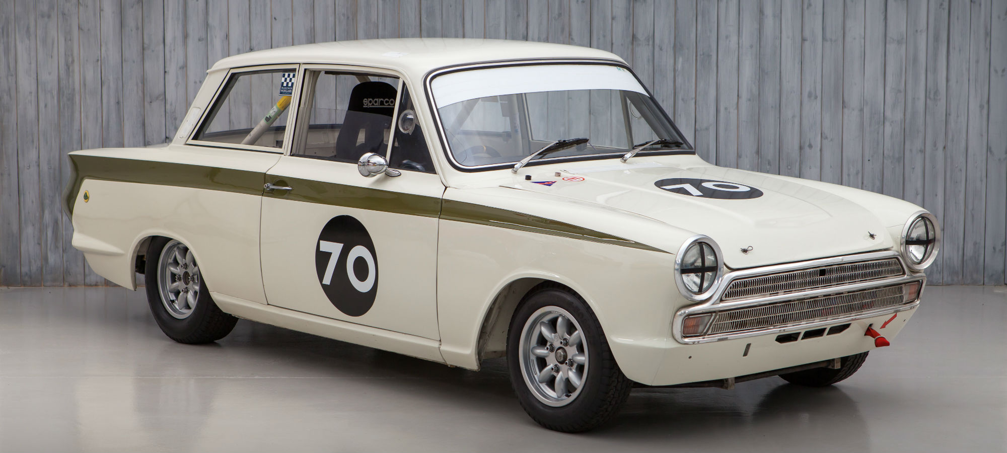 The Ex - Andy Wolfe, Rob Hall 1965 Lotus Cortina FIA