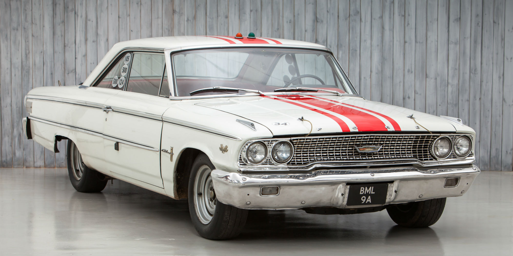 The ex jack sears willment racing team british saloon car champion 1963 ford galaxie 500 r code lightweight