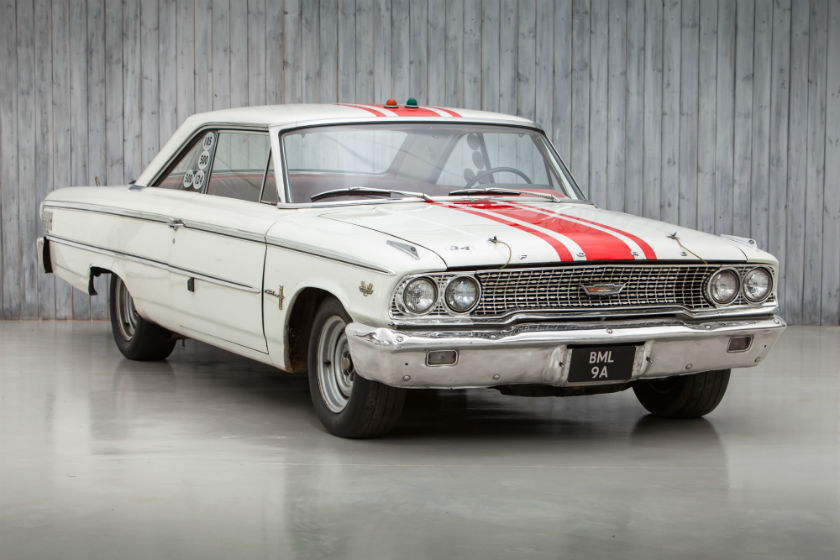The Ex - Jack Sears, Holman & Moody, Willment Racing Team, British Saloon Car Champion 1963 Ford Galaxie 500 R-Code Lightweight For Sale at William I'Anson Ltd