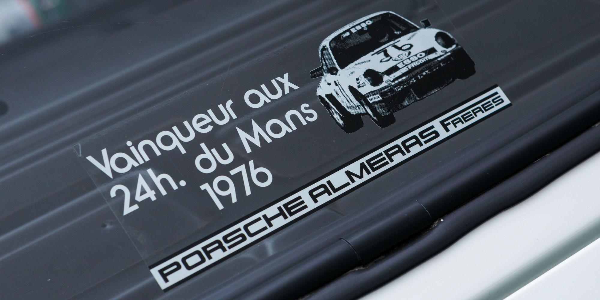 The Le Mans Class Winning 1974 Porsche 911 Carrera 3.0 RS