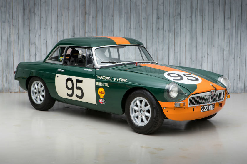 The Ex - Windmill & Lewis, Competitions Department 1964 MG B Roadster FIA For Sale at William I'Anson Ltd