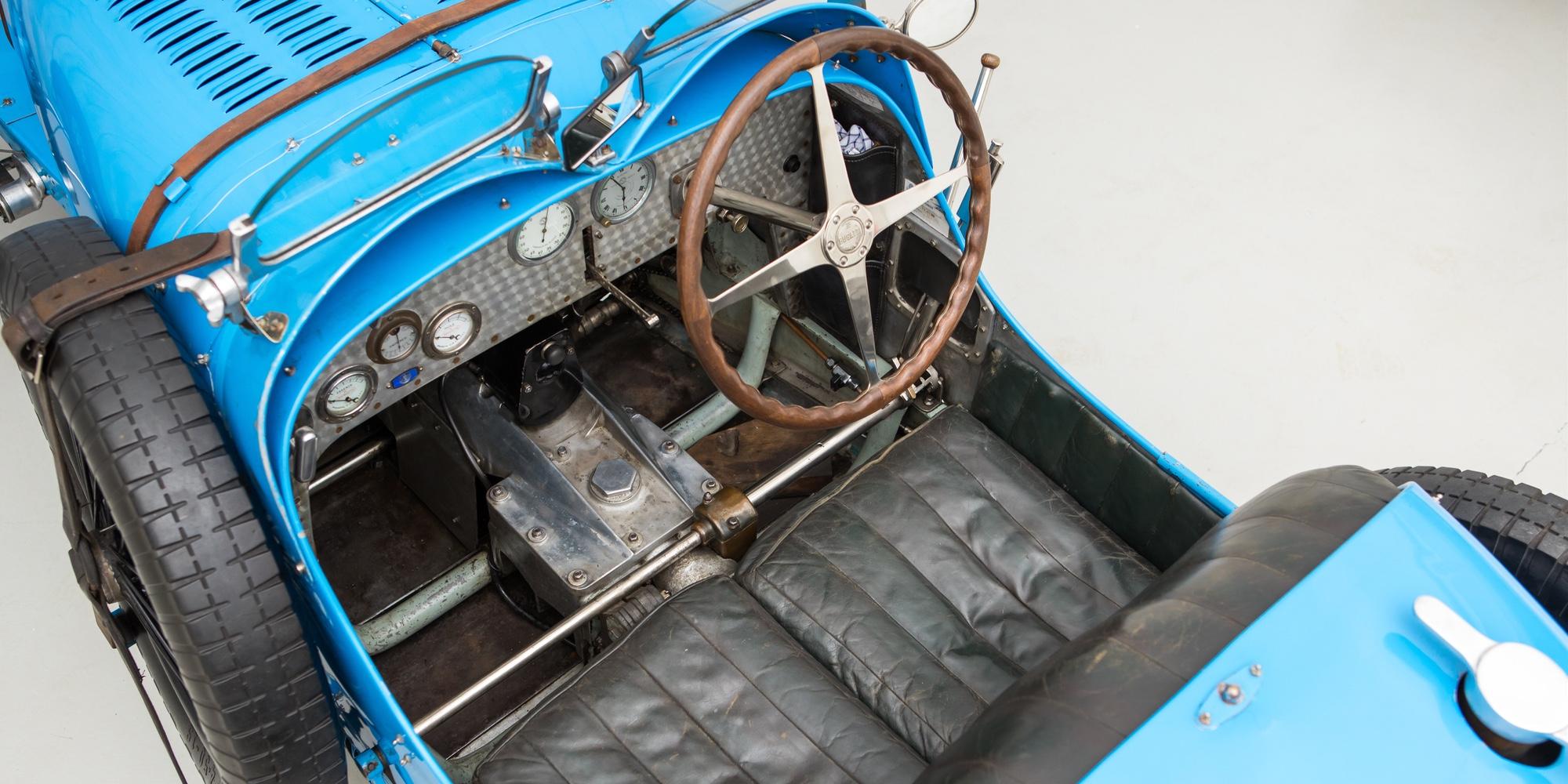 The Ex – Sir Malcolm Campbell, Miss Bond, Brooklands 1927 Bugatti Type 37