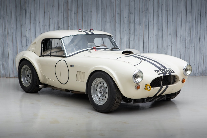The Factory Built, Le Mans Entry Ex - Hugus, Jopp, Miles, Olthoff, Hawkins, Schlesser 1963 AC Shelby Cobra Le Mans Coupe For Sale at William I'Anson Ltd