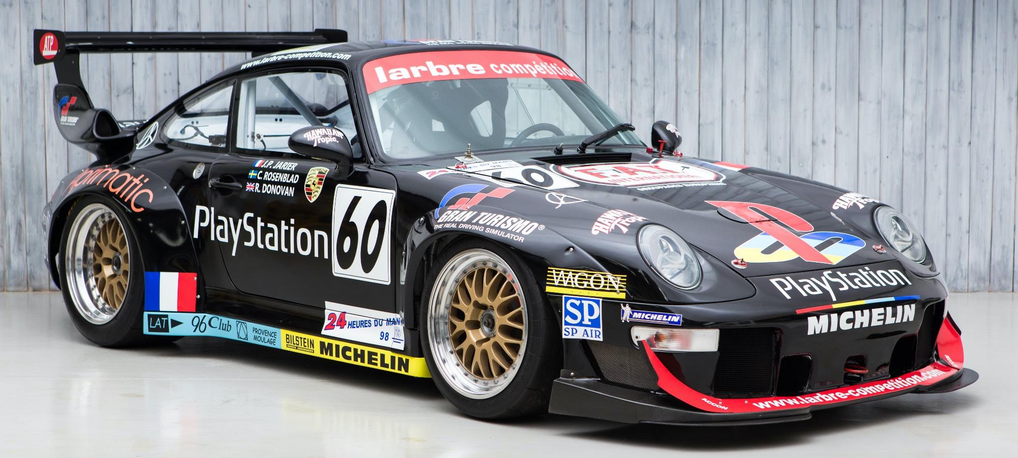 The Ex - Larbre Competition, Sony PlayStation, Multiple Le Mans 24 Hours 1997 Porsche 993 GT2 Evo